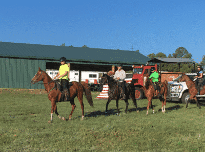 Endurance Riding Controlled Start