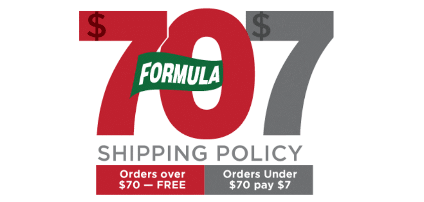 FORMULA 707 SHIPPING POLICY PHOTO